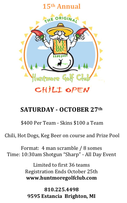 Chili Open 2018 Flyer